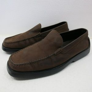 Tod's 8 Nubuck Leather Moccasins Loafers Shoe US 9